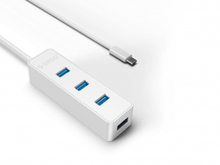 USB-концентратор Orico W5PH4-C3-10 (Type-C4xUSB3.0) (белый)